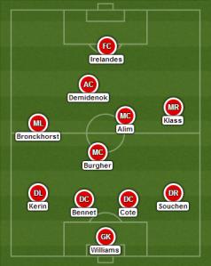 Demidenok and Bennet returned the starting XI.