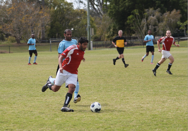Amin on the ball against Naita Phoenix this season.
